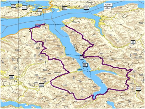 kart over hjørundfjorden Alpin skitur rundt Hjørundfjorden kart over hjørundfjorden