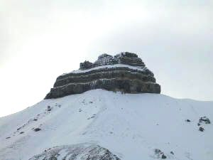 Typical mountain formation